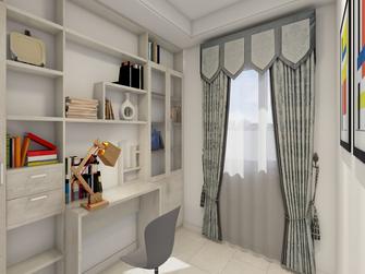 富裕型90平米三室两厅地中海风格书房装修案例