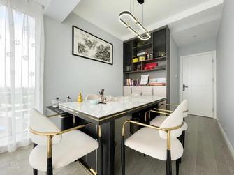 富裕型110平米四室两厅轻奢风格书房图片大全