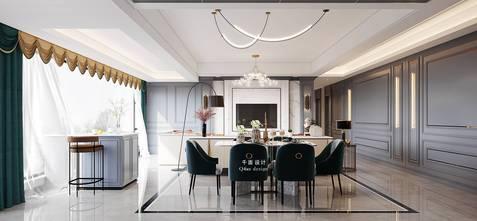 140平米复式美式风格餐厅图片大全
