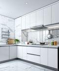 富裕型140平米三室两厅现代简约风格厨房图