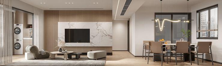 15-20万120平米三现代简约风格客厅图片大全