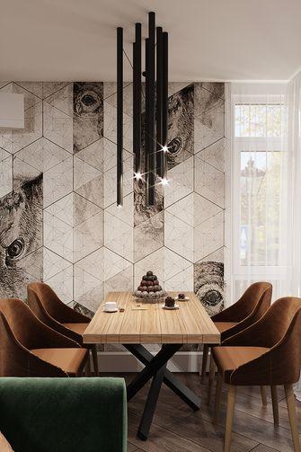 70平米一居室现代简约风格餐厅装修效果图