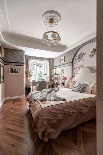 富裕型130平米三室一厅美式风格卧室图片大全