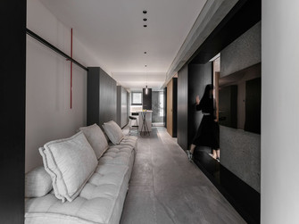 经济型60平米混搭风格客厅装修案例