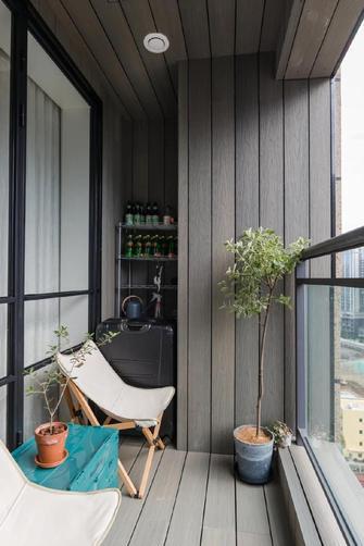 富裕型80平米现代简约风格阳台设计图
