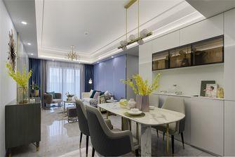 100平米三室两厅轻奢风格餐厅装修图片大全