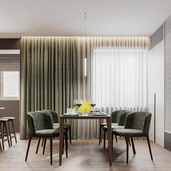 20万以上140平米复式轻奢风格餐厅图片