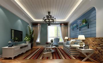 富裕型100平米地中海风格客厅图片大全