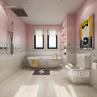 140平米别墅港式风格卫生间装修案例