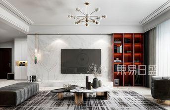 20万以上140平米三室两厅现代简约风格客厅设计图