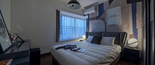 经济型120平米三室一厅北欧风格卧室设计图