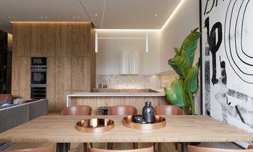富裕型140平米三北欧风格厨房欣赏图