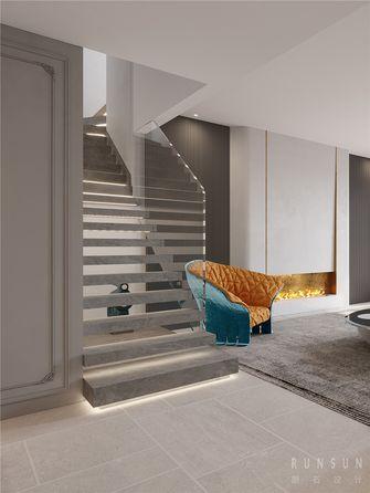 20万以上140平米复式轻奢风格楼梯间图片