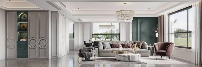 20万以上140平米四法式风格客厅图片大全