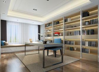 140平米现代简约风格书房图