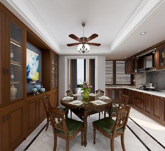 120平米三室一厅美式风格餐厅效果图