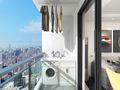 10-15万90平米三室两厅现代简约风格阳台效果图