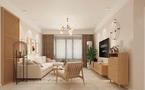 90平米三室三厅日式风格客厅效果图