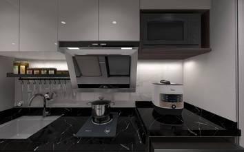 80平米复式混搭风格厨房图