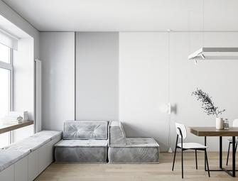 5-10万60平米一居室混搭风格客厅效果图