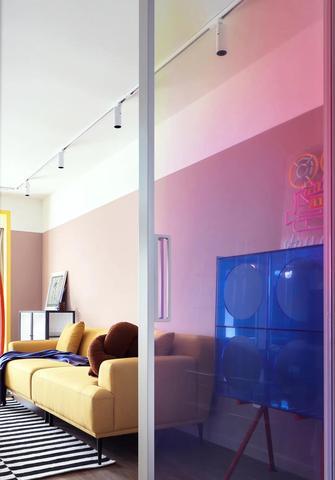 3万以下70平米三室一厅混搭风格书房图