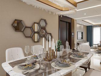 富裕型90平米三室两厅轻奢风格餐厅装修案例
