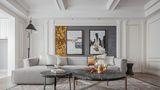 富裕型140平米三室两厅法式风格客厅图