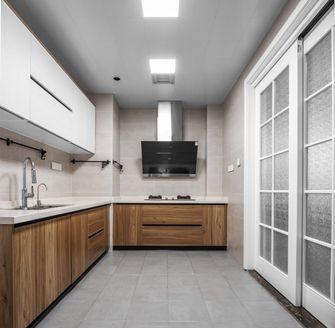 富裕型80平米三室一厅北欧风格厨房装修图片大全