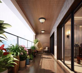 140平米复式中式风格阳台效果图
