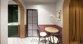 经济型50平米一室一厅混搭风格餐厅图