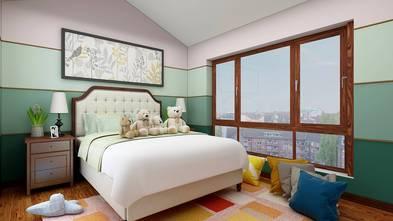 100平米三室两厅田园风格卧室图片