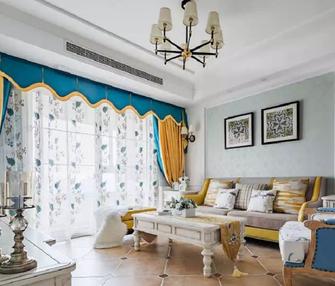 富裕型100平米三室两厅欧式风格客厅装修图片大全