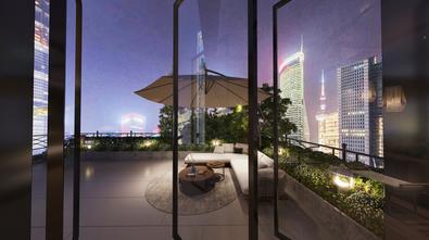 20万以上140平米复式美式风格阳台图片