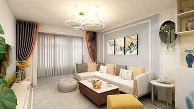 富裕型110平米三现代简约风格客厅图