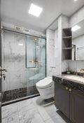 富裕型100平米三室一厅法式风格卫生间设计图