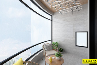 经济型90平米混搭风格阳台设计图