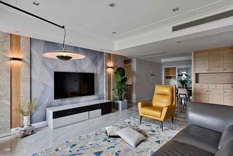 130平米复式现代简约风格客厅装修图片大全