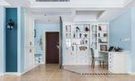 富裕型110平米三室一厅田园风格书房效果图