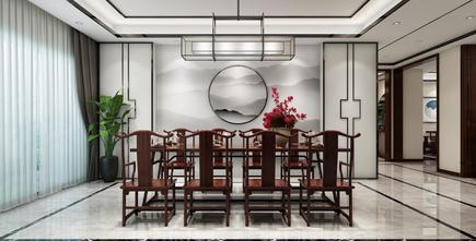 140平米四室两厅新古典风格餐厅图片大全