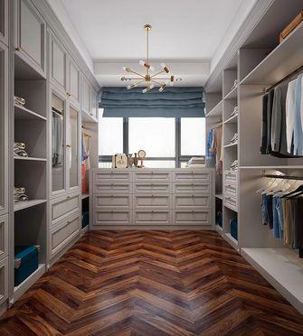 140平米三室一厅美式风格衣帽间装修图片大全