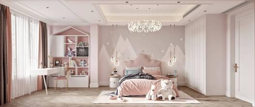 140平米别墅美式风格卧室装修效果图