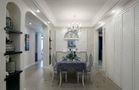 富裕型140平米三室两厅田园风格餐厅设计图