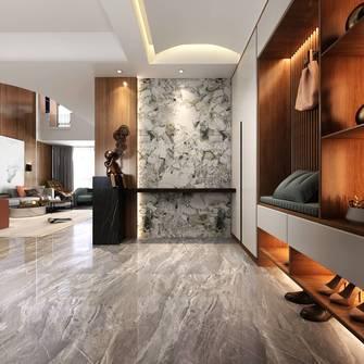 豪华型140平米别墅现代简约风格玄关设计图