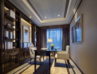 富裕型130平米三室两厅新古典风格书房欣赏图