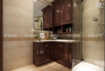 富裕型90平米三室两厅美式风格卫生间装修效果图