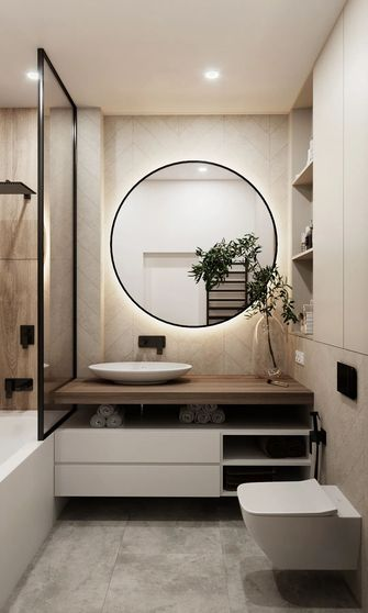 70平米公寓现代简约风格卫生间装修效果图