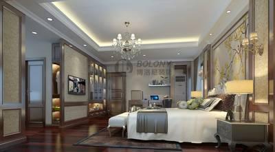 豪华型140平米别墅欧式风格卧室效果图
