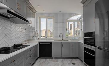 富裕型120平米三室一厅美式风格厨房装修图片大全