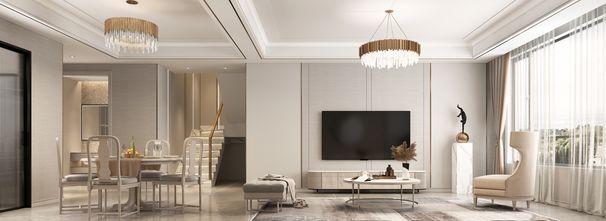 经济型140平米四室三厅美式风格客厅图片