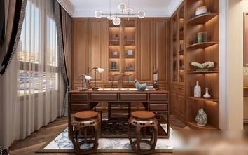 130平米三室一厅美式风格书房装修案例